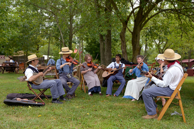 String Band Plays a 19th Century Tune