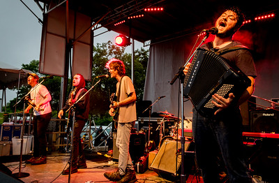 The Felice Brothers perform during the Green River Festival 2016 at Greenfield Community College, Greenfield MA