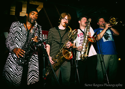 BateBunda peforms at Honk!TX presents: Brass Band Blitz 2 at Red 7 3/20/14