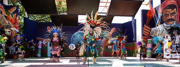 Honk!TX 2016 - Band Revue: Danza Azteca Guadalupana Austin, TX