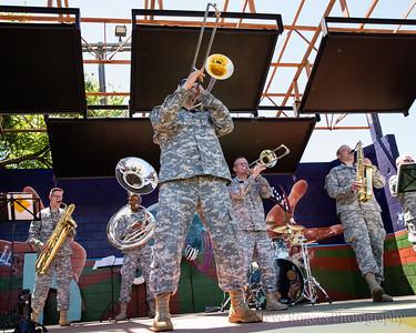 Honk!TX 2016 - Band Revue: Biohazard Brass Band, Fort Sam Houston, Texas