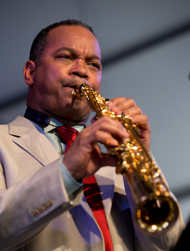 Victor Gooines performs during the New Orleans Jazz & Heritage Festival 2015 at the Fairgrounds Race Track, New Orleans Louisiana.