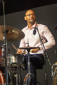 Jason Marsalis performs during day one of the New Orleans Jazz & Heritage Festival 2019 at Fairgrounds Race Cource, New Orleans LA on April 25th, 2019.