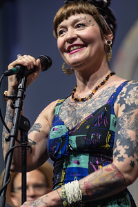 Meschiya Lake & the Little Big Horns performs during day one of the New Orleans Jazz & Heritage Festival 2019 at Fairgrounds Race Cource, New Orleans LA on April 25th, 2019.