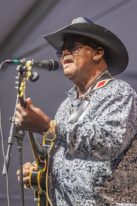 Reverand John Wilkins performs during day one of the New Orleans Jazz & Heritage Festival 2019 at Fairgrounds Race Cource, New Orleans LA on April 25th, 2019.