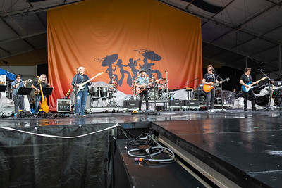 The Doobie Brothers perform during day one of the New Orleans Jazz & Heritage Festival 2019 at Fairgrounds Race Cource, New Orleans LA on April 25th, 2019.