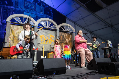 J. Monque 'D Blues Revue performs during day one of the New Orleans Jazz & Heritage Festival 2019 at Fairgrounds Race Cource, New Orleans LA on April 25th, 2019.