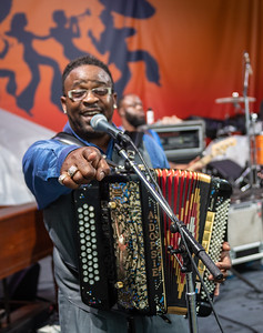 Rockin' Dopsie, Jr. & the Zydeco Twisters perform during day one of the New Orleans Jazz & Heritage Festival 2019 at Fairgrounds Race Cource, New Orleans LA on April 25th, 2019.