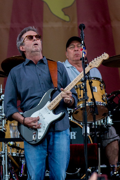 Eric Clapton performs on the Accura Stage during the New Orleans Jazz & Heritage Festival 2014 at the Fairgrounds Race Track, New Orleans Louisiana.