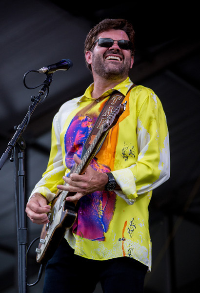 Tab Benoit performs during the New Orleans Jazz & Heritage Festival 2014 at the Fairgrounds Race Track, New Orleans Louisiana.