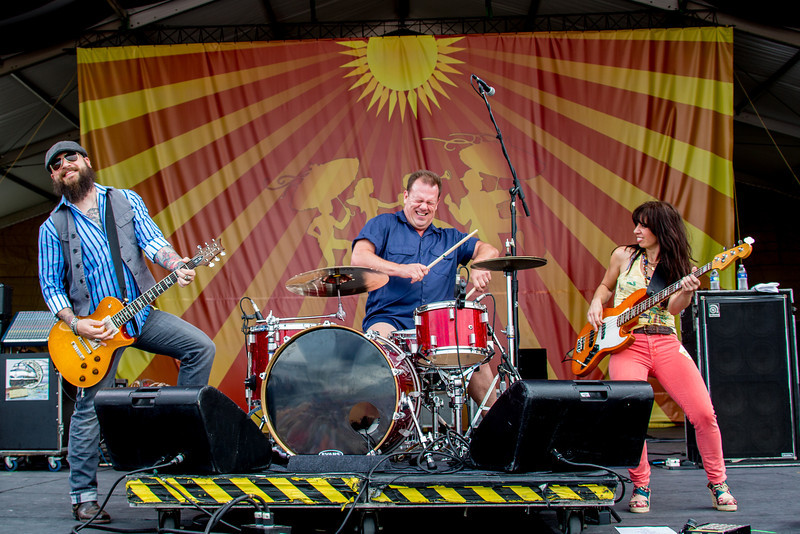 Cowboy Mouth performs during the New Orleans Jazz & Heritage Festival 2014 at the Fairgrounds Race Track, New Orleans Louisiana.