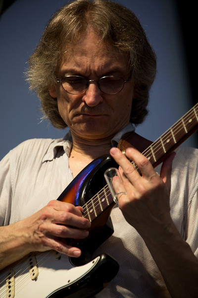 Sonny Landreth performs during the New Orleans Jazz & Heritage Festival 2014 at the Fairgrounds Race Track, New Orleans Louisiana.