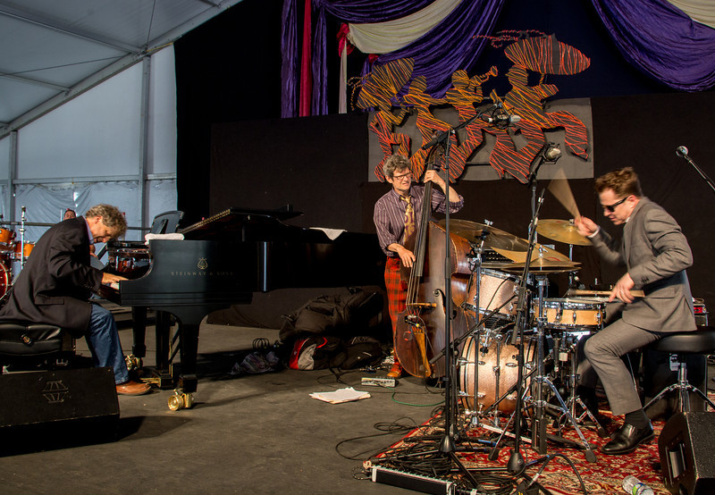The Stanton Moore Trio performs during the New Orleans Jazz & Heritage Festival 2014 at the Fairgrounds Race Track, New Orleans Louisiana.