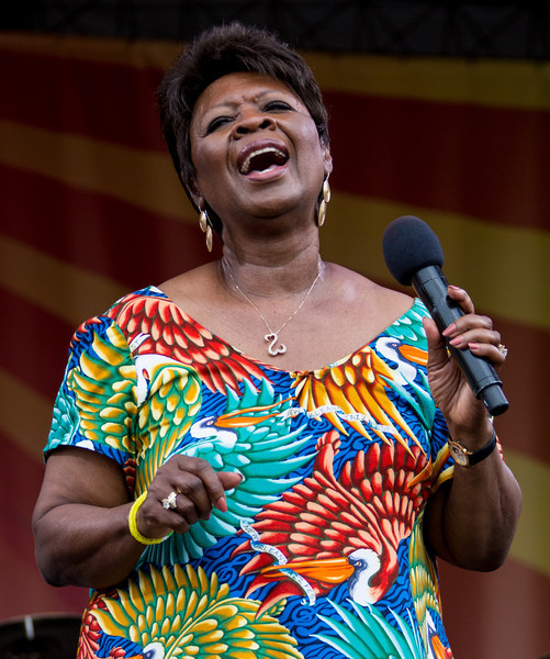 Irma Thomas performs during the New Orleans Jazz & Heritage Festival 2014 at the Fairgrounds Race Track, New Orleans Louisiana.