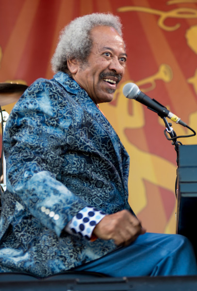 Allen Toussaint performs during the New Orleans Jazz & Heritage Festival 2014 at the Fairgrounds Race Track, New Orleans Louisiana.