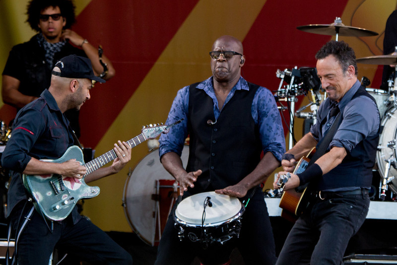 Bruce Springsteen and the E Street Band performs during the New Orleans Jazz & Heritage Festival 2014 at the Fairgrounds Race Track, New Orleans Louisiana.