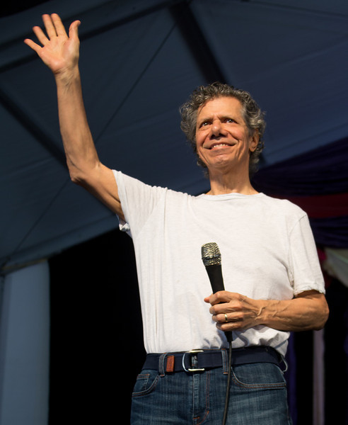 Chick Corea and the Vigil performs during the New Orleans Jazz & Heritage Festival 2014 at the Fairgrounds Race Track, New Orleans Louisiana.