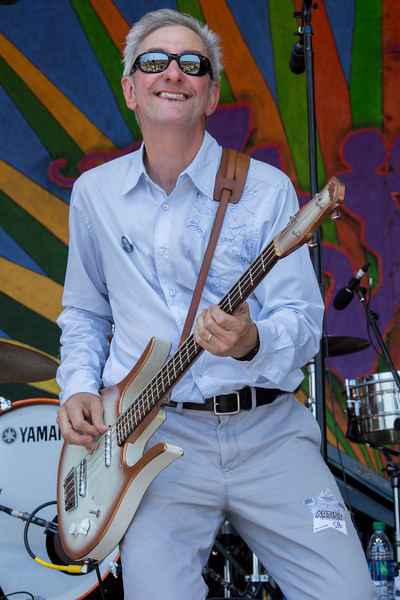 Rob Savoy of the Creole String Beans (Rob Savoy bass) performs during the New Orleans Jazz & Heritage Festival 2014 at the Fairgrounds Race Track, New Orleans Louisiana.