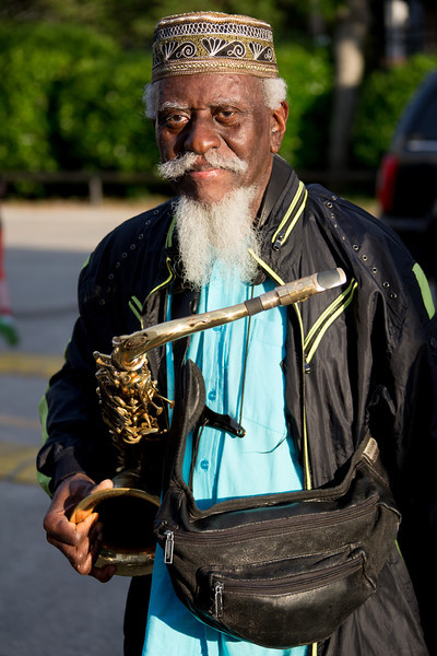 Pharoah Sanders during the New Orleans Jazz & Heritage Festival 2014 at the Fairgrounds Race Track, New Orleans Louisiana.