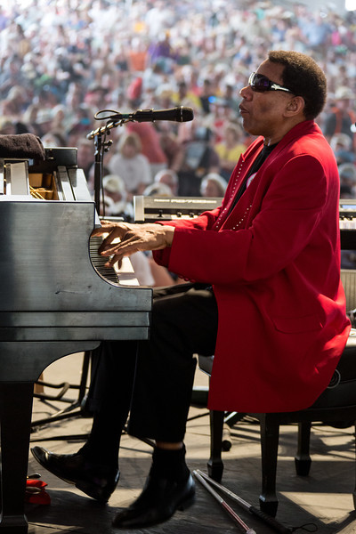 Henry Butler performs during the New Orleans Jazz & Heritage Festival 2014 at the Fairgrounds Race Track, New Orleans Louisiana.