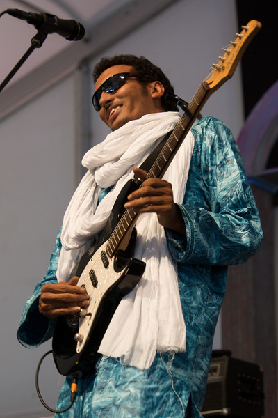 Bombino performs during the New Orleans Jazz & Heritage Festival 2014 at the Fairgrounds Race Track, New Orleans Louisiana.