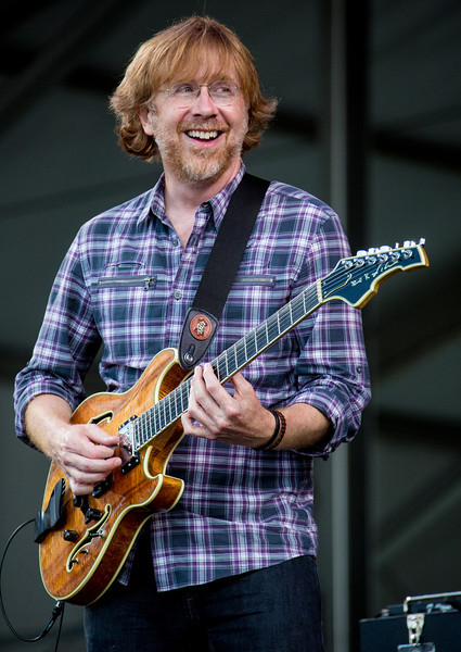 Phish performs during the New Orleans Jazz & Heritage Festival 2014 at the Fairgrounds Race Track, New Orleans Louisiana.