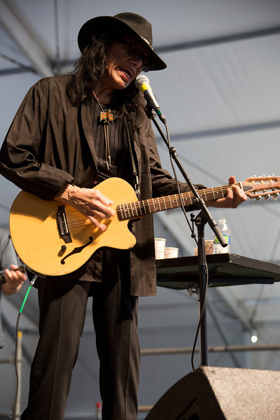 Rodriguez performs during the New Orleans Jazz & Heritage Festival 2014 at the Fairgrounds Race Track, New Orleans Louisiana.