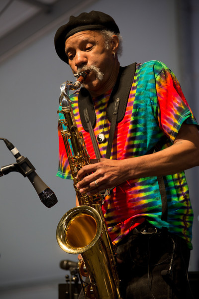 Charles Neville performs during the New Orleans Jazz & Heritage Festival 2014 at the Fairgrounds Race Track, New Orleans Louisiana.