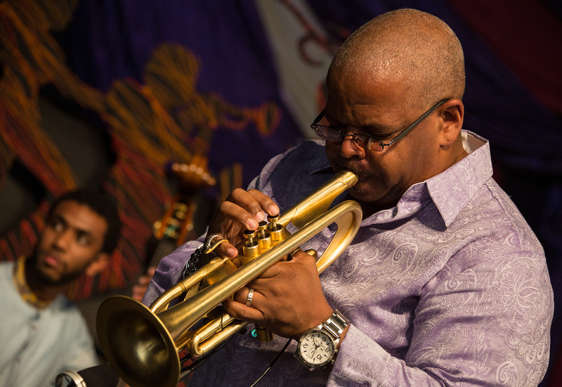 Terence Blanchard performs during the New Orleans Jazz & Heritage Festival 2014 at the Fairgrounds Race Track, New Orleans Louisiana.