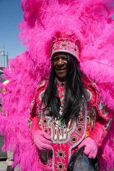 Monk Boudreaux poses for a picture during the New Orleans Jazz & Heritage Festival 2014 at the Fairgrounds Race Track, New Orleans Louisiana.
