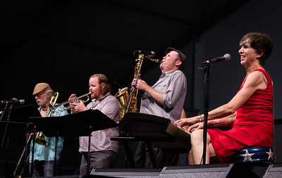 Marcia Ball performs during the New Orleans Jazz & Heritage Festival 2016 at the Fairgrounds Race Track in New Orleans Louisiana.