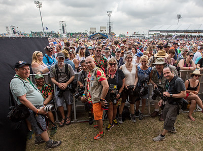 Shady lookin' bunch of photographers on day 1 of the New Orleans Jazz & Heritage Festival 2017.