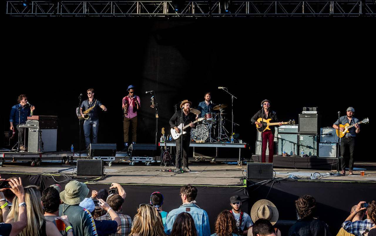 Nathaniel Rateliff & The Night Sweats perform during Mountain Jam 2016 at Hunter Mountian, Hunter NY.