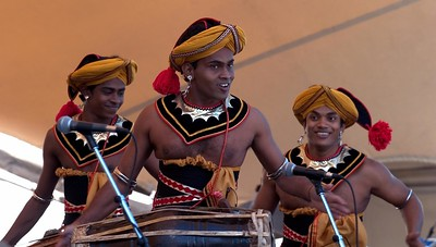 These Sri Lankan guys were really enthusiastic performers