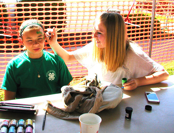 Diane Raver | The Herald-Tribune<br /> Morris Shamrocks 4-H Club members provided face painting at the fest.