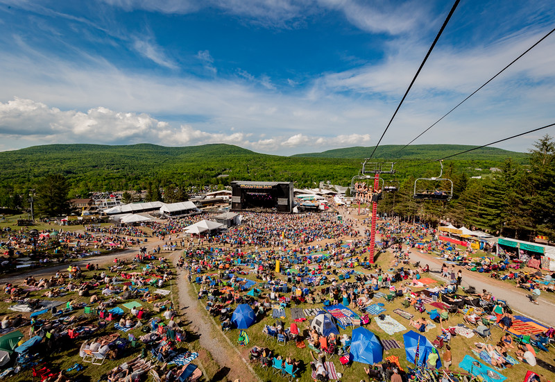 Aerials from the chair lift during Mountain Jam 2016 at Hunter Mountian, Hunter NY.