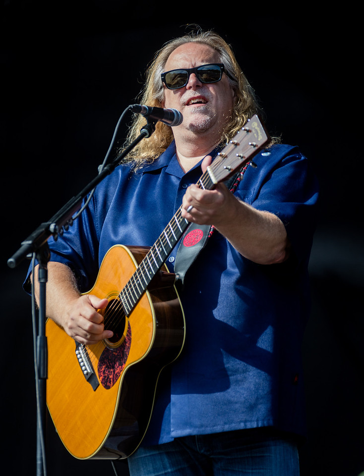 Warren Haynes performs a solo set during Mountain Jam 2016 at Hunter Mountian, Hunter NY.