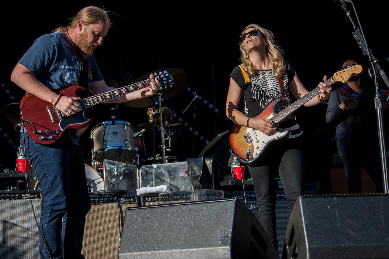Derek Trucks and Susan Tedeschi of the Tadeschi Trucks Band performs during Mountain Jam at Hunter Mountian, Hunter, NY