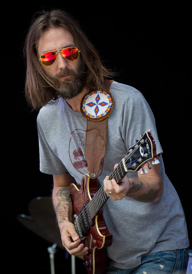 Chris Robinson of the Black Crows performs during Mountain Jam at Hunter Mountian, Hunter, NY