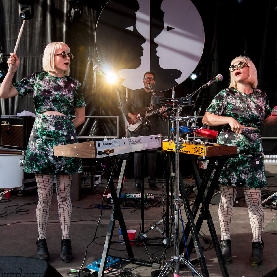Lucius performs during Mountain Jam at Hunter Mountian, Hunter, NY