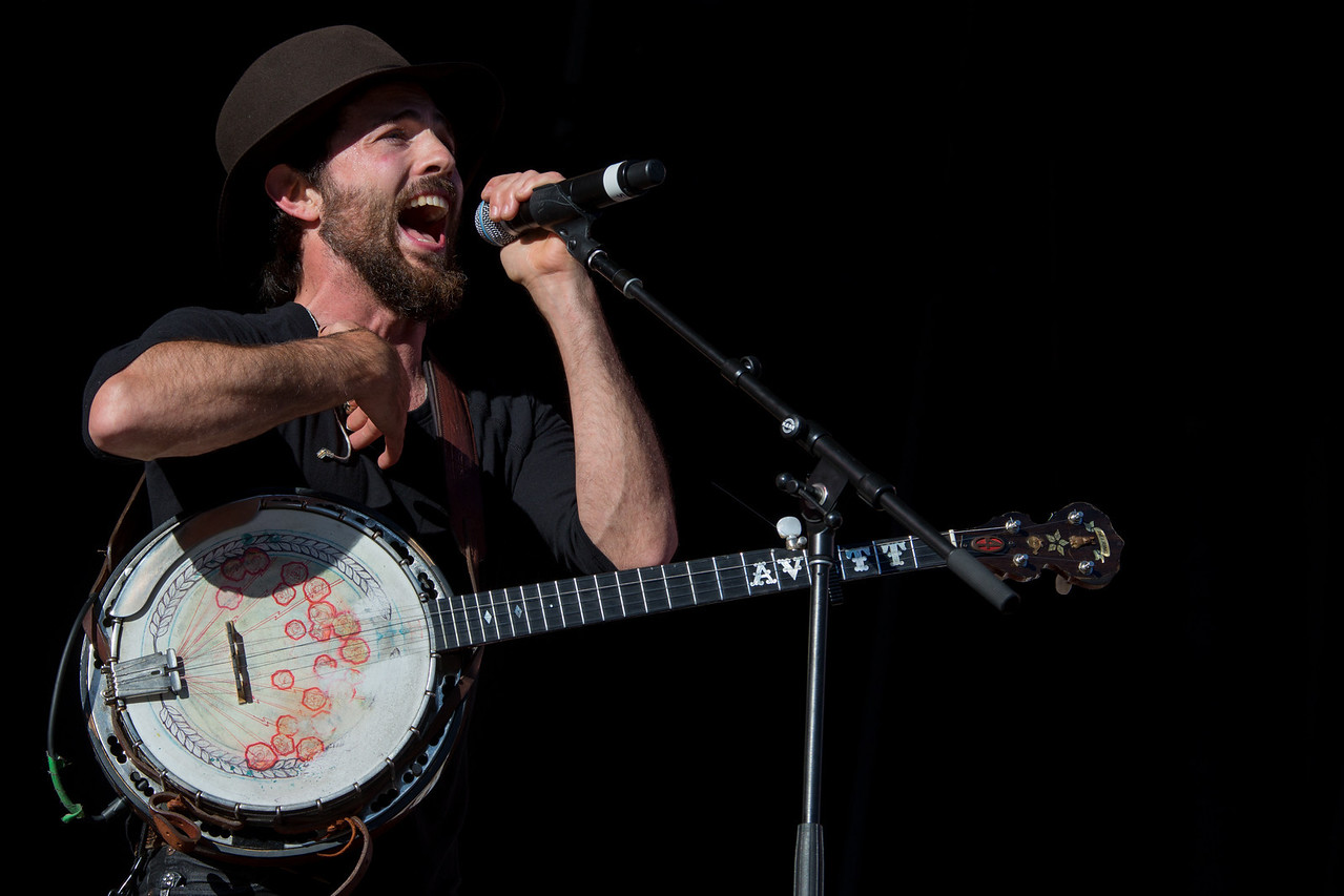 Scott Avett, The Avett Brothers perform during Mountain Jam at Hunter Mountian, Hunter, NY