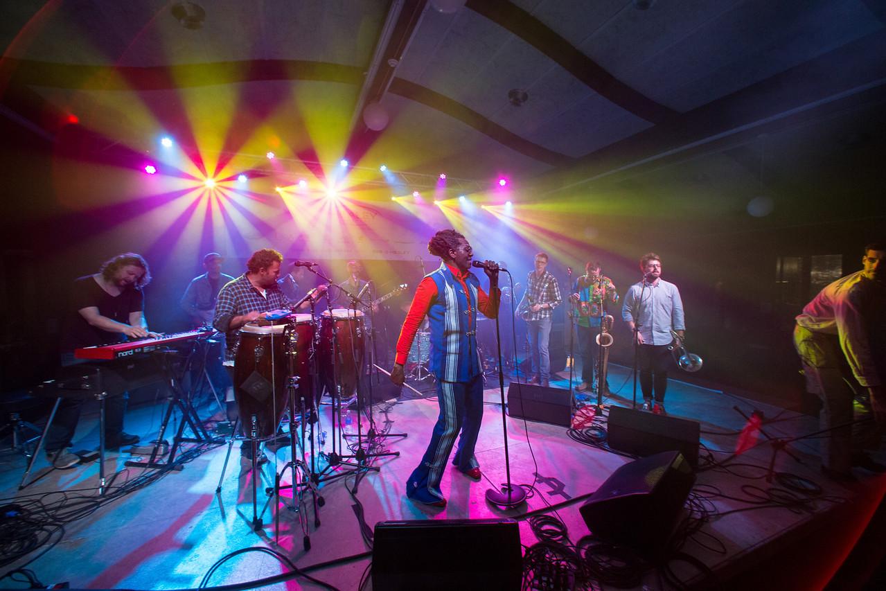 Antibalas performs during Mountain Jam at Hunter Mountian, Hunter, NY