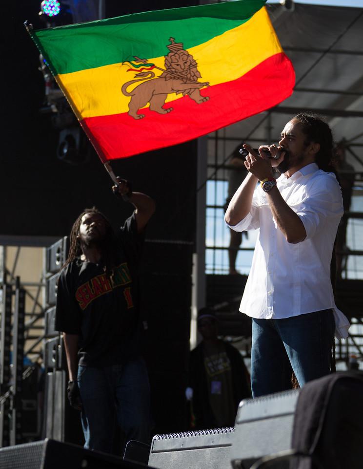 "Damian ""Jr. Gong"" Marley performs during Mountain Jam at Hunter Mountian, Hunter, NY"