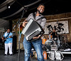 Lil' Nathan and the ZYdeco Big Timers performs during the New Orleans Jazz & Heritage Festival 2016 at the Fairgrounds Race Track in New Orleans Louisiana.