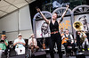 Meschiya Lake and the Little Big Horns performs during the New Orleans Jazz & Heritage Festival 2016 at the Fairgrounds Race Track in New Orleans Louisiana.