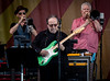 Steely Dan performs during the New Orleans Jazz & Heritage Festival 2016 at the Fairgrounds Race Track in New Orleans Louisiana.