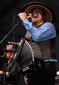 Terrance Simien and the Zydeco Experience performs during the New Orleans Jazz & Heritage Festival 2016 at the Fairgrounds Race Track in New Orleans Louisiana.