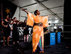 The Stephanie Jordan Big Band performs during the New Orleans Jazz & Heritage Festival 2016 at the Fairgrounds Race Track in New Orleans Louisiana.