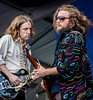 My Morning Jacket performs during the New Orleans Jazz & Heritage Festival 2016 at the Fairgrounds Race Track in New Orleans Louisiana.