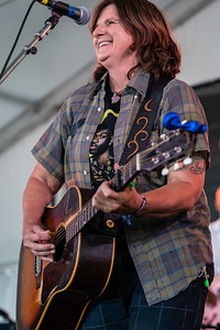 The Amy Ray Band performs during the 60th annual Newport Folk Festival 2019 at Fort Adams State Park in Newport RI.